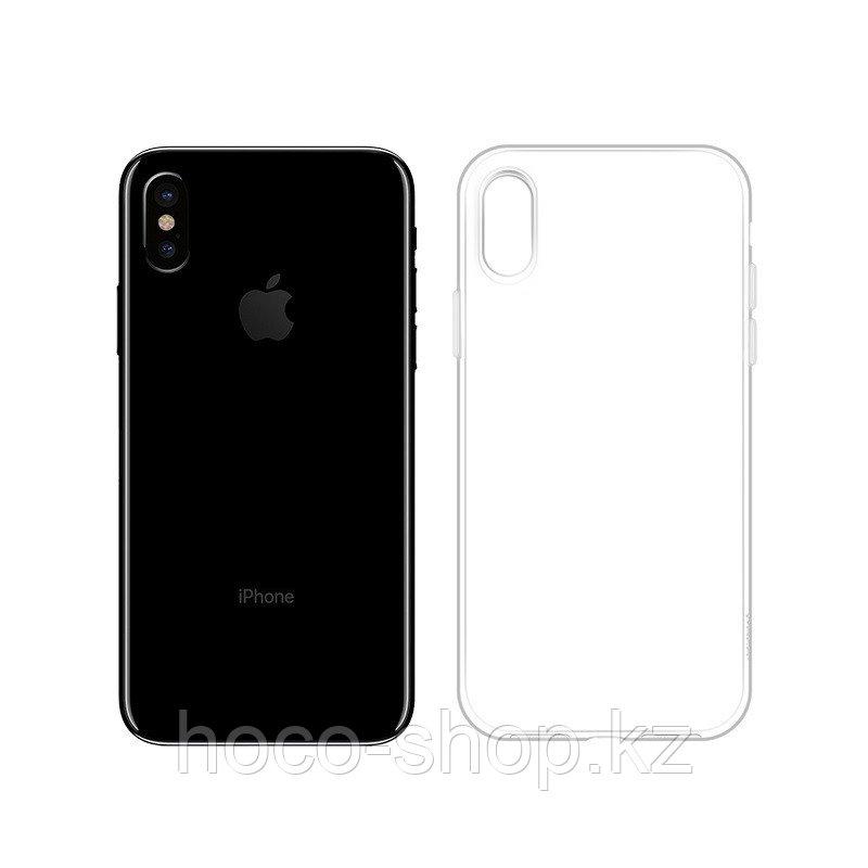 Чехол гелевый прозрачный для iPhone X Hoco - фото 1