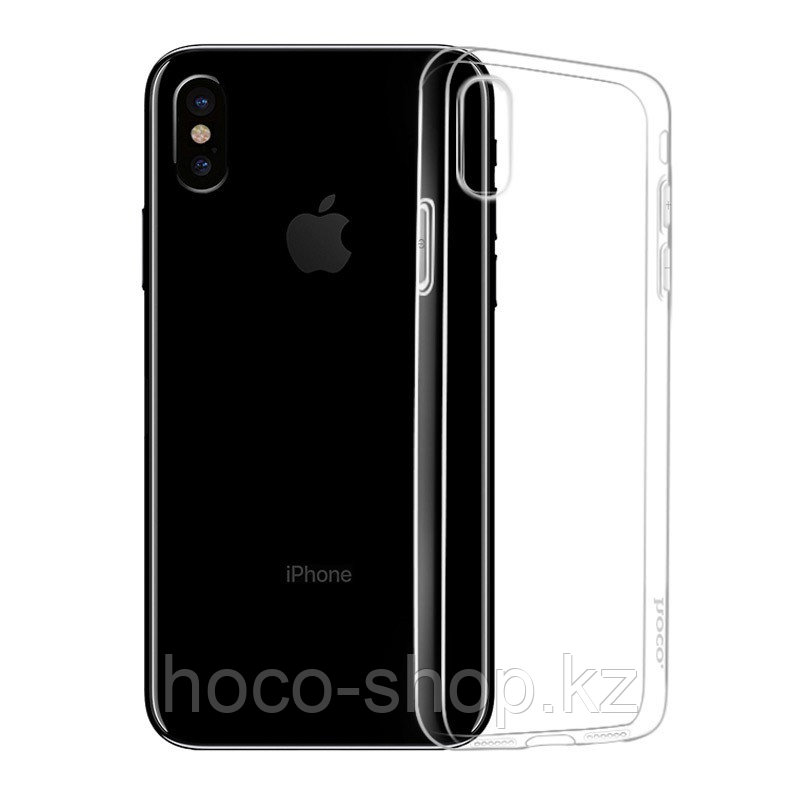 Чехол гелевый прозрачный для iPhone X Hoco - фото 2