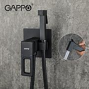 Смеситель с гигиеническим душем GAPPO G7217-6  черный