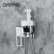 Смеситель с гигиеническим душем GAPPO G7218  хром