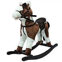 Качалка-лошадка с колесами Pituso Белый с коричневым