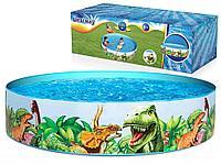 Расширяющийся бассейн для детей Динозавры 244 x 46 см 55001 Bestway