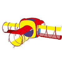 Детская палатка Квадрат Pituso с 4 тоннелями + 100 шаров