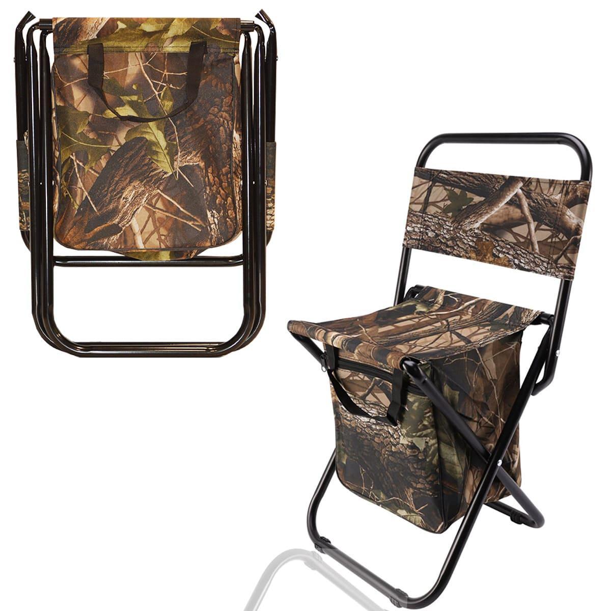 Раскладной стул для пикников и рыбалок камуфляжный - фото 1