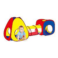 Детская палатка Pituso конус + квадрат + тоннель и 100 шаров в комплекте