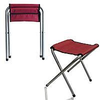 Раскладной стул для пикников и рыбалок бордовый