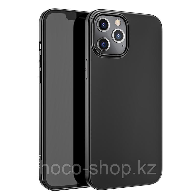 Чехол гелевый матовый для iPhone 12 Pro Max Hoco черный