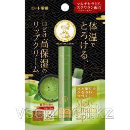 Увлажняющий бальзам для губ с зеленым чаем Mentholatum Melty Cream Lip