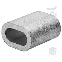 Зажим троса din 3093 алюминиевый 8 мм