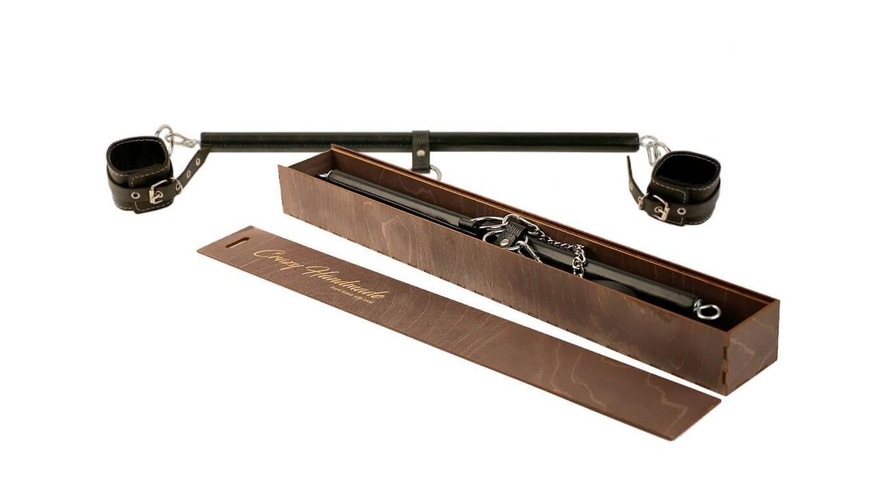 Набор для бондажа с распоркой и оковами, черный 50 см