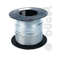 Трос стальной оцинкованный  DIN 3055 c оплеткой ПВХ 6 мм. ( 100 м.)