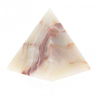 Пирамида из натурального камня оникс 10х10х11,3 см (4)