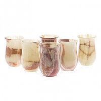 Набор стаканов 6 шт из камня оникс 160 мл 6,3х9,5 см (2,5х4)