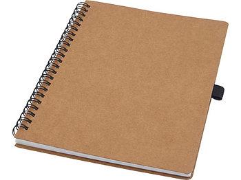 Блокнот Cobble на пружине, формат A5, изготовленный из переработанного картона, с листами из каменной бумаги,