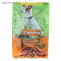 Сухой корм Chammy для собак мелких пород, мясное ассорти, 600 г
