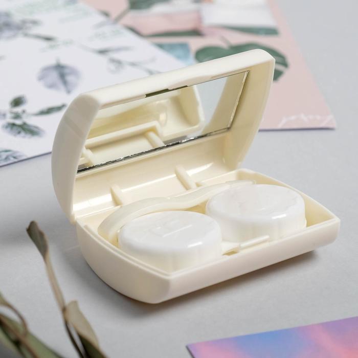 Набор для контактных линз с зеркалом «Авокадо», 3 предмета, 6,5 х 5,5 см - фото 5