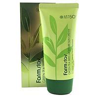 Солнцезащитный увлажняющий крем с семенами зеленого чая FarmStay Green tea seed moisture sun cream SPF 50/PA++
