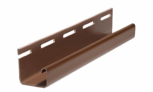 Профиль J для Фасадных панелей Коричневый 3000 мм