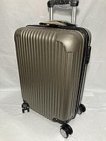 """Маленький пластиковый дорожный чемодан на 4-х колесах"""" Longstar"""".Высота 53 см, ширина 35 см, глубина 25 см., фото 1"""