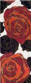 Декор Rose W BK 200x500 D17/LG