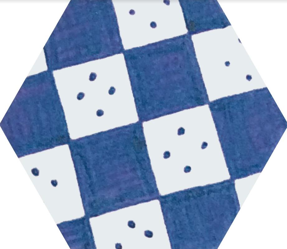 Плитка для пола глазурованная Nika Mix BL 100x115