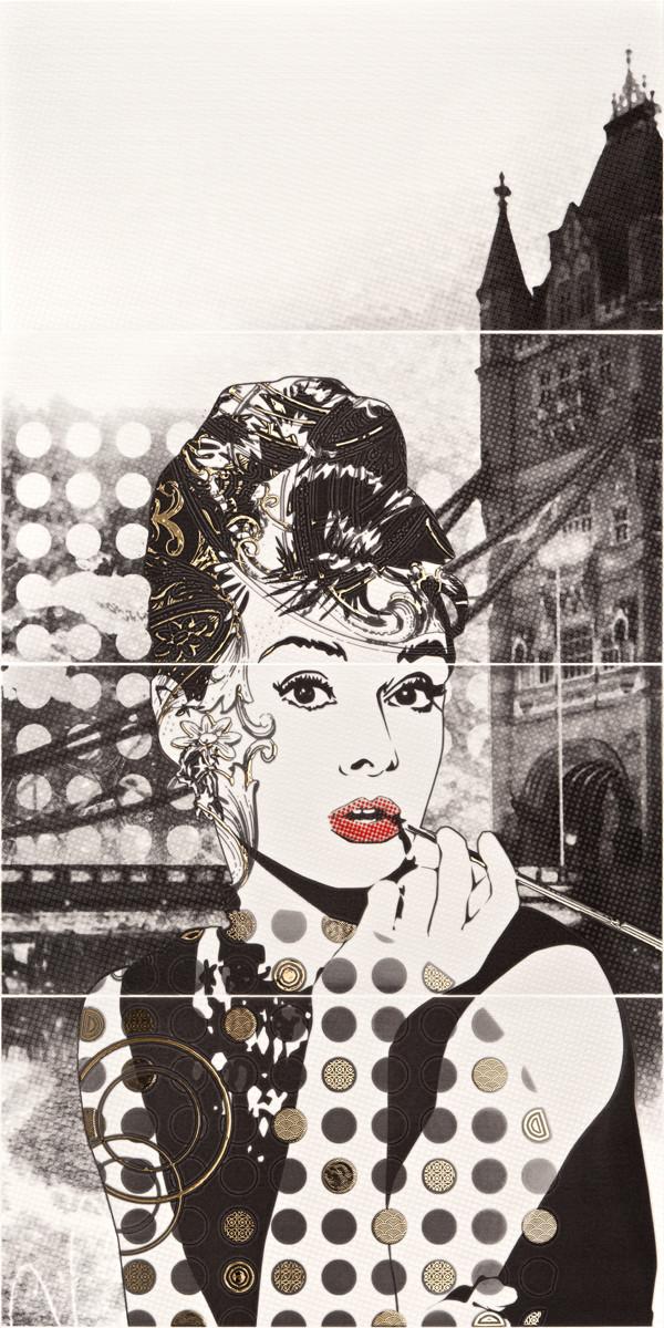 Декор-панно London Audrey Hepburn 595x1180 D6/LG