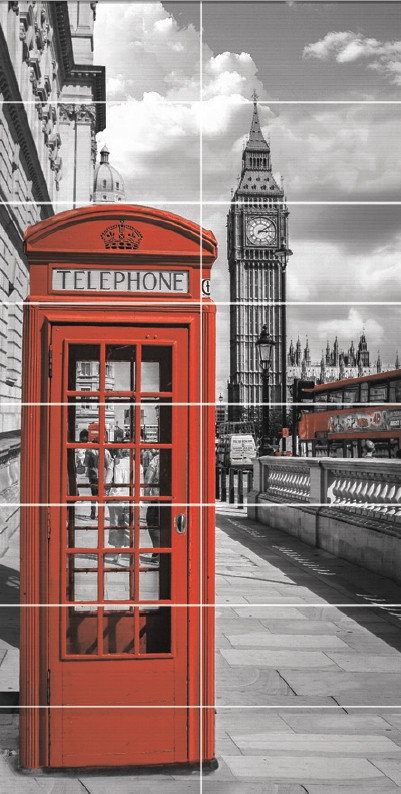 Декор-панно Telephone Box 1190x2360 D6/Pt