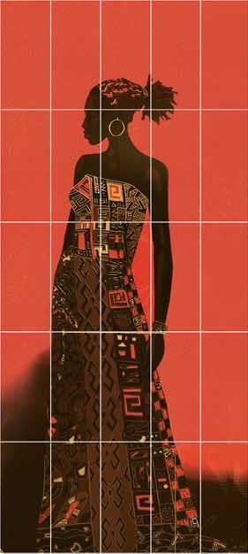Декор-панно Tina (1475x2975) D6/G