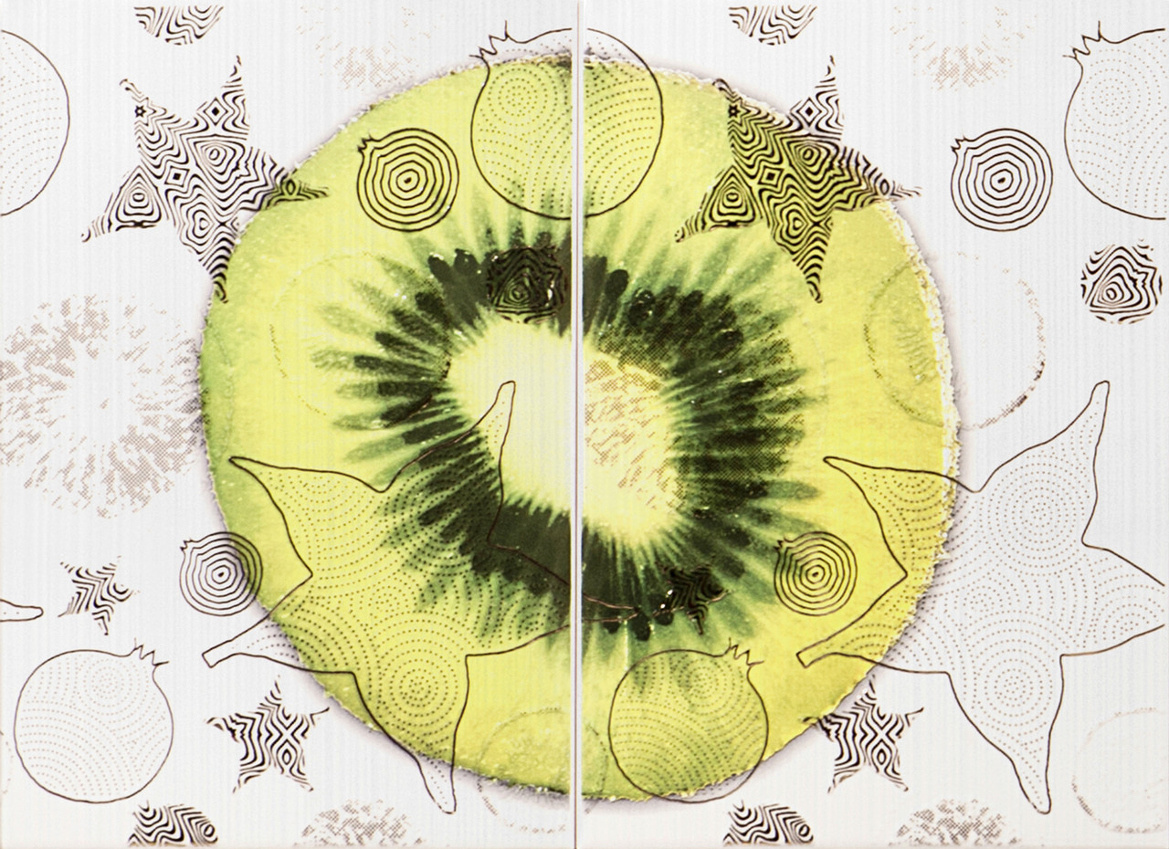 Декор-панно Vitel Kiwi 550x400 D2/G
