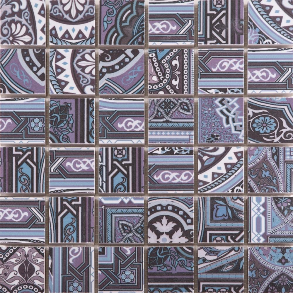 Мозаика Mos Aladdin Pattern BL 300x300 M4