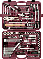 """UTS0142 Набор инструмента универсальный 1/4"""", 3/8"""" и 1/2""""DR, 142 предмета"""