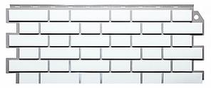 Фасадные панели Белый 1130x463 мм ( 0,47 м2) Кирпич облицовочный  FINEBER