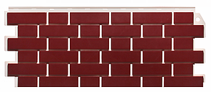 Фасадные панели Britt бордовый 1130x463 мм ( 0,47 м2) Кирпич облицовочный   FINEBER
