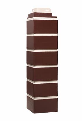 Угол Наружный Britt коричневый  485х119х119 мм Кирпич облицовочный FINEBER