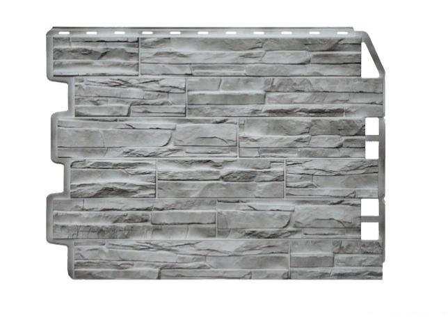 Фасадные панели Скол 3D Facture Светло-серый  795х595 мм (0,41 м2) ДАЧНЫЙ  FINEBER