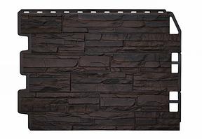 Фасадные панели Скол 3D Facture Тёмно-коричневый 795х595 мм (0,41 м2) ДАЧНЫЙ  FINEBER
