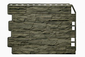 Фасадные панели Скол 3D Facture Дымчатый 795х595 мм (0,41 м2) ДАЧНЫЙ  FINEBER