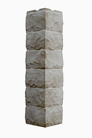 Угол Наружный Светло-бежевый  589х155х155 мм Скол 3D Facture ДАЧНЫЙ FINEBER