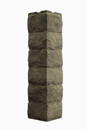 Угол Наружный Дымчатый 589х155х155 мм Скол 3D Facture ДАЧНЫЙ FINEBER