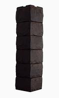 Угол Наружный Тёмно-коричневый 589х155х155 мм Скол 3D Facture ДАЧНЫЙ FINEBER