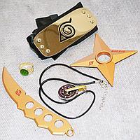 Игровой набор Наруто повязка звезда Сюрикен клинок Чакры кольцо и медальон