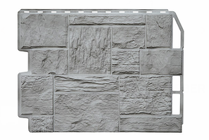 Фасадные панели Туф 3D Facture Светло-серый 795х595 мм (0,41 м2) ДАЧНЫЙ FINEBER