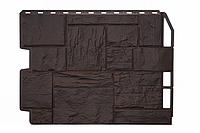 Фасадные панели Туф 3D Facture Тёмно-коричневый 795х595 мм (0,41 м2) ДАЧНЫЙ  FINEBER