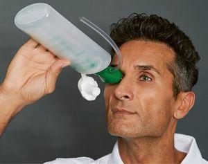 Применение станций для промывки глаз