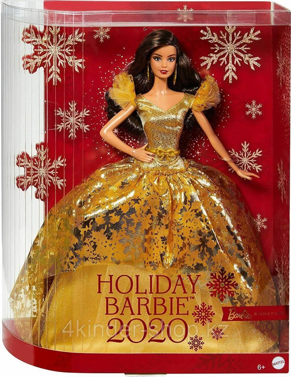 Кукла Барби Рождество-2020 Holiday Barbie латиноамериканка коллекционная Mattel - фото 1