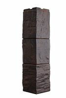 Угол Наружный Тёмно-коричневый 589х146х146 мм Туф 3D Facture ДАЧНЫЙ FINEBER