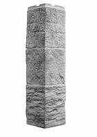 Угол Наружный Светло-серый 589х146х146 мм Туф 3D Facture ДАЧНЫЙ FINEBER