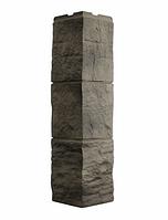 Угол Наружный Дымчатый 589х146х146 мм Туф 3D Facture ДАЧНЫЙ FINEBER
