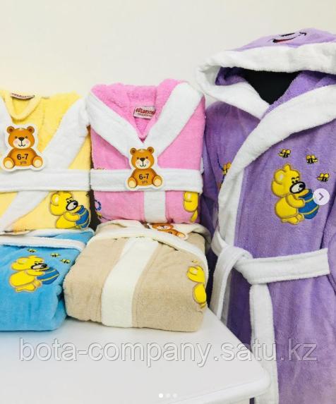 Детский банный халат с мишкой Оригинал