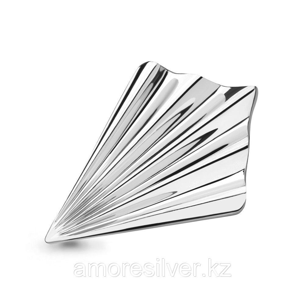 Брошь AQUAMARIN серебро с родием, бриллиант 060107.6 размеры - 19,5